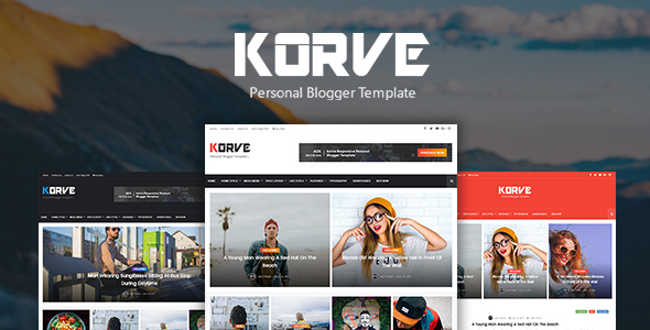 Korve Reponsive, seo friendly personal Blogger Template