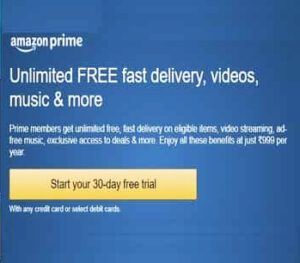 start amazon 30 days free trial