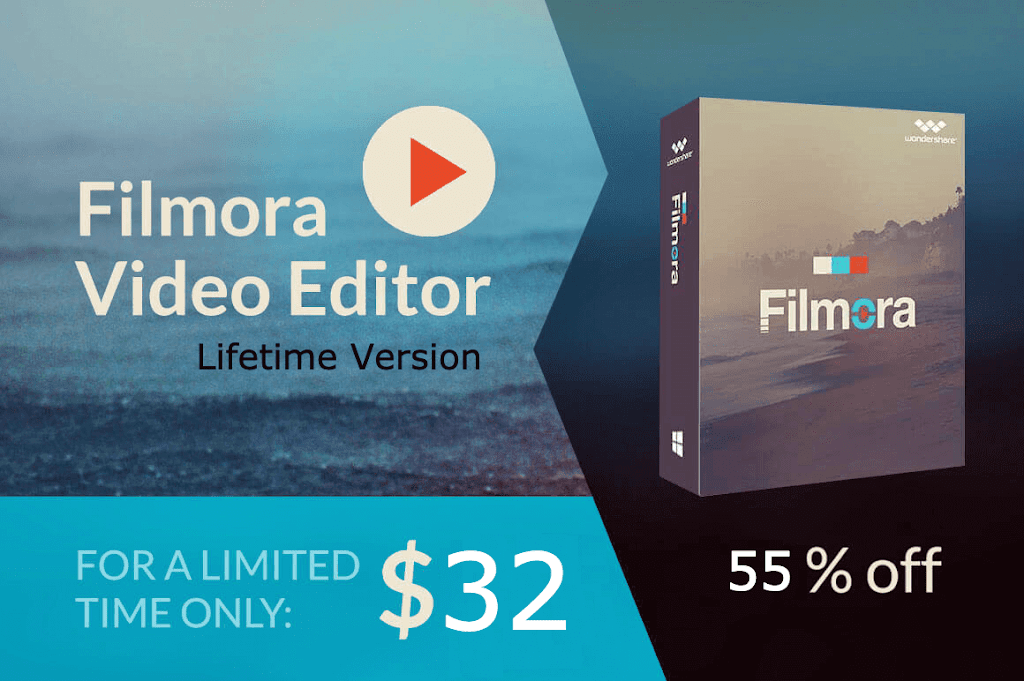 Get Upto 55% Discount on Wondershare Filmora Video Editor Purchase